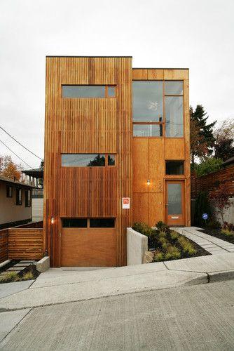 Modern Exterior Modern Exterior Vertical Wood Siding