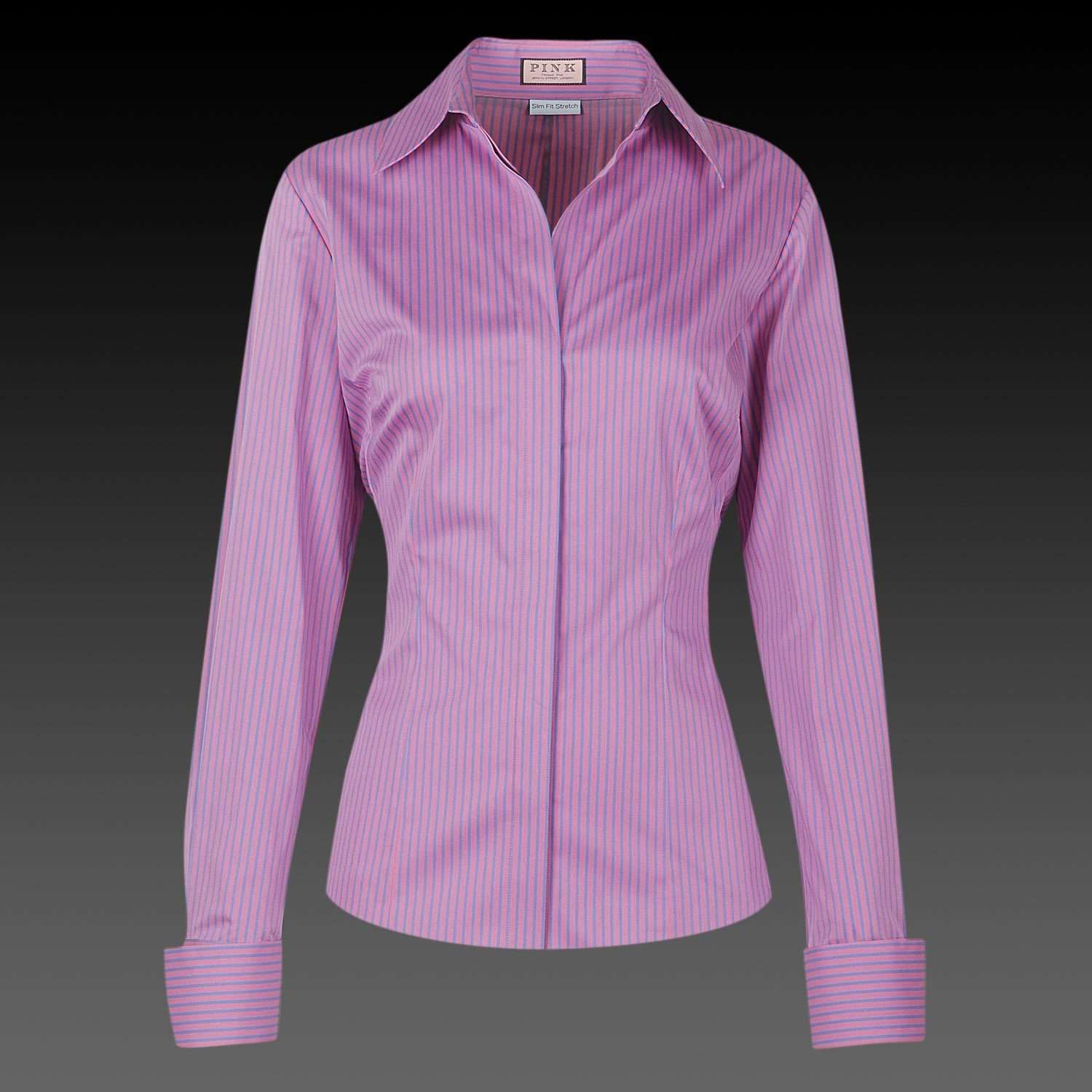 Pink And Purple Striped Shirt Clothes Shirts Pinterest