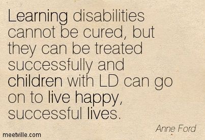 Disability Quotes Kids With Learning Disabilities Quotes  School Psychology .