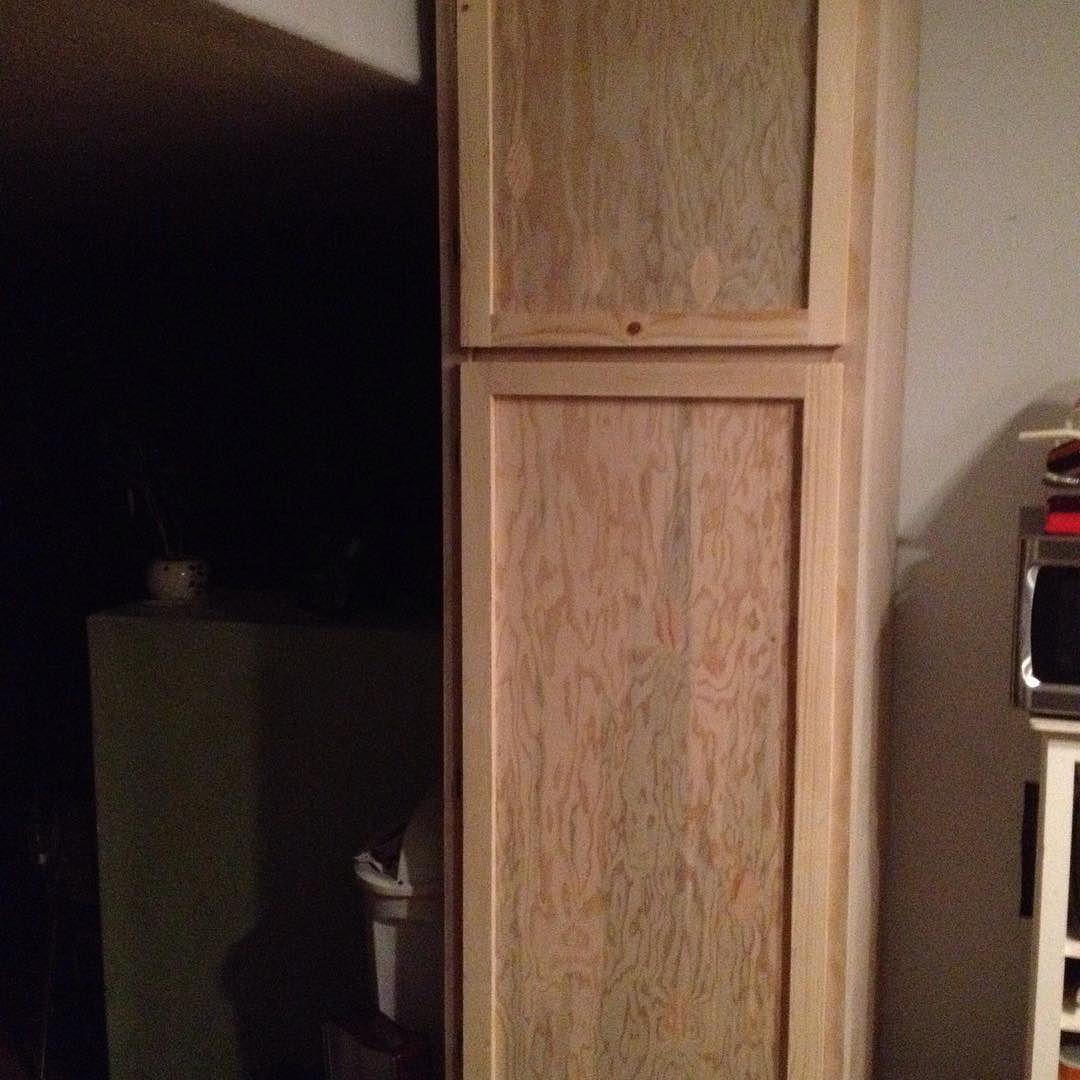 Cabinet doors built and installed. #diy #woodworking