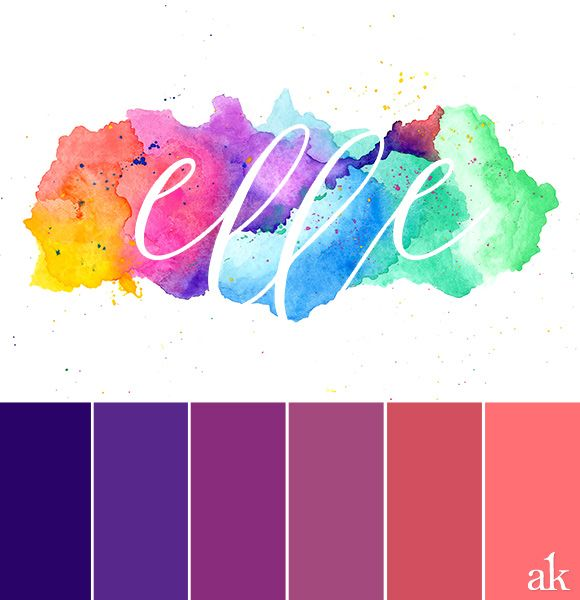 A Watercolor Giveaway Inspired Color Palette Indigo Purple
