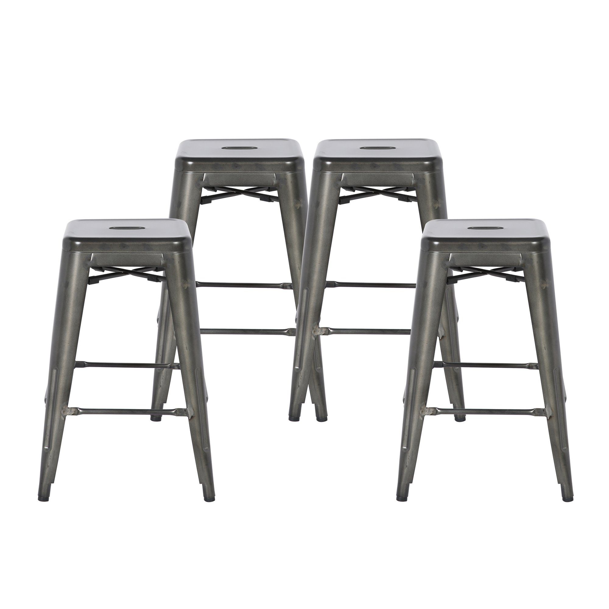 24 Inch Metal Bar Stools With Back