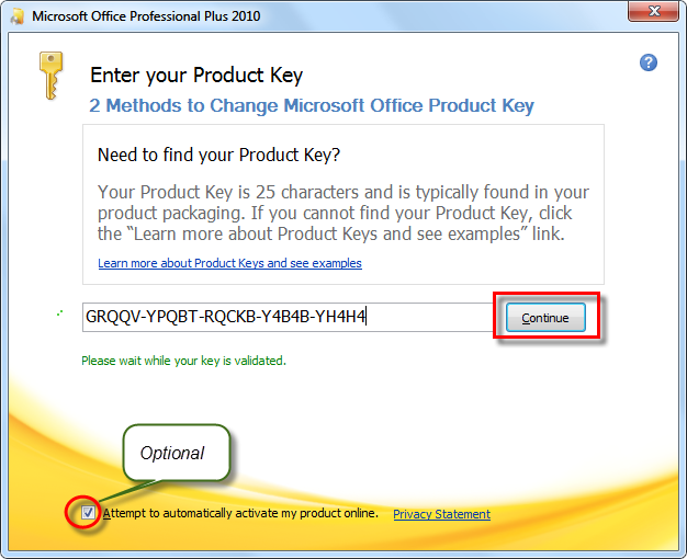 where microsoft office product key
