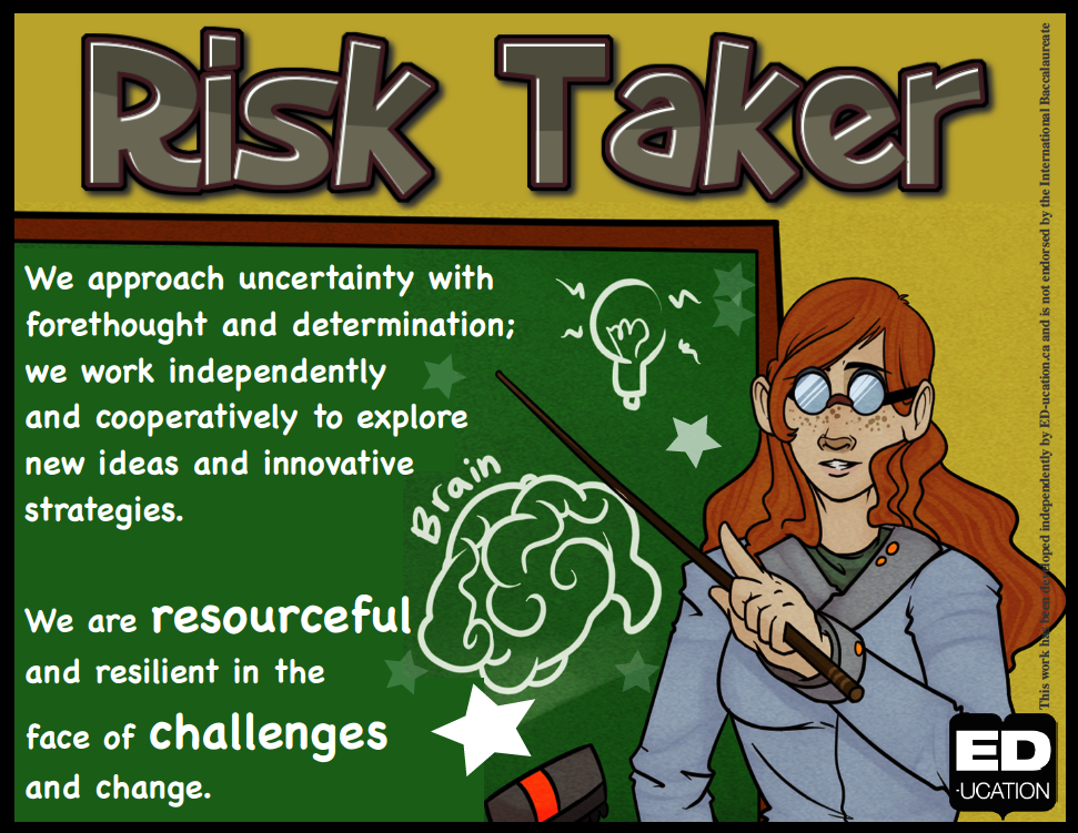 New IB Learner Profile Posters (Risk Taker) - Replace your classroom ...