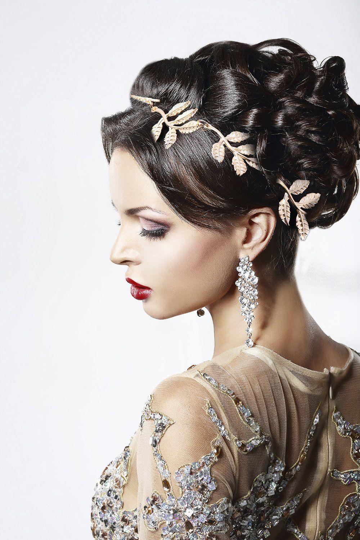 Braut haarband frisur  Haarband Haarkette Braut Kopfschmuck Haarschmuck Frisuren Hochzeit ...