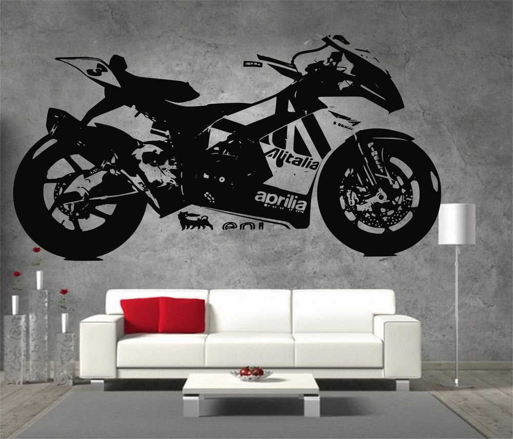 Aprilia rsv4 large vinyl sticker wall art boys bedroom