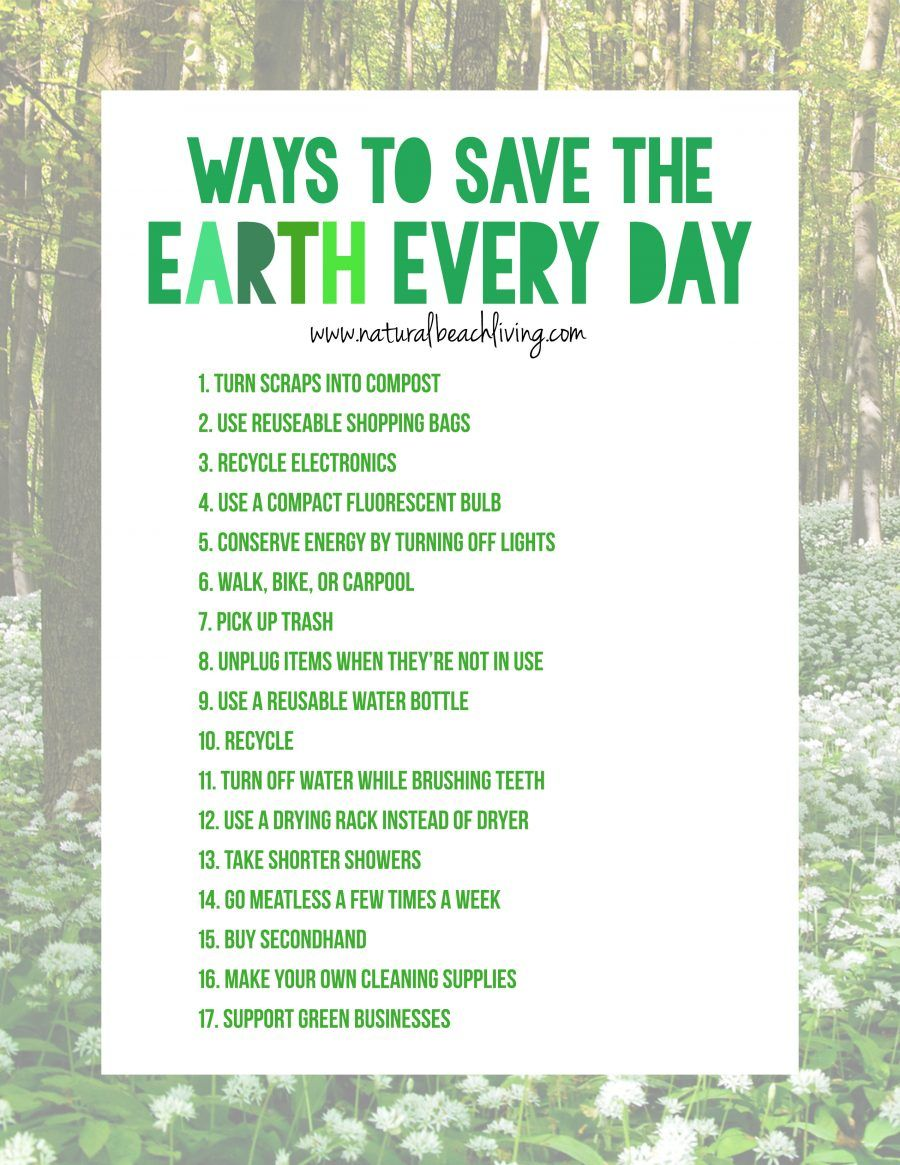 20 Easy Ways To Save The Earth Every Day Save Planet Earth
