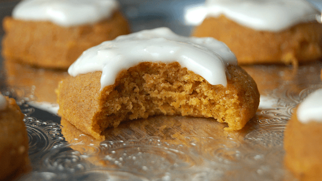 Gluten free pumpkin cookies  Bake these adorable autumnal cookies with the littles ones. We bet they won't be left in the tin for very long, though!
