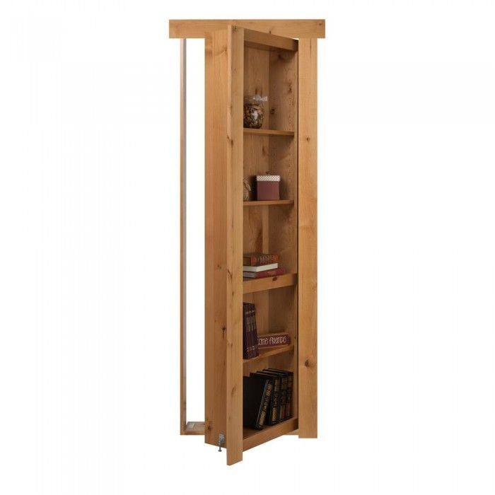 24 in. x 80 in. Assembled Natural Stained Alder Flush Mount Door