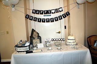 Banner 25th Wedding Anniversary Party 25th Anniversary Party Anniversary Parties