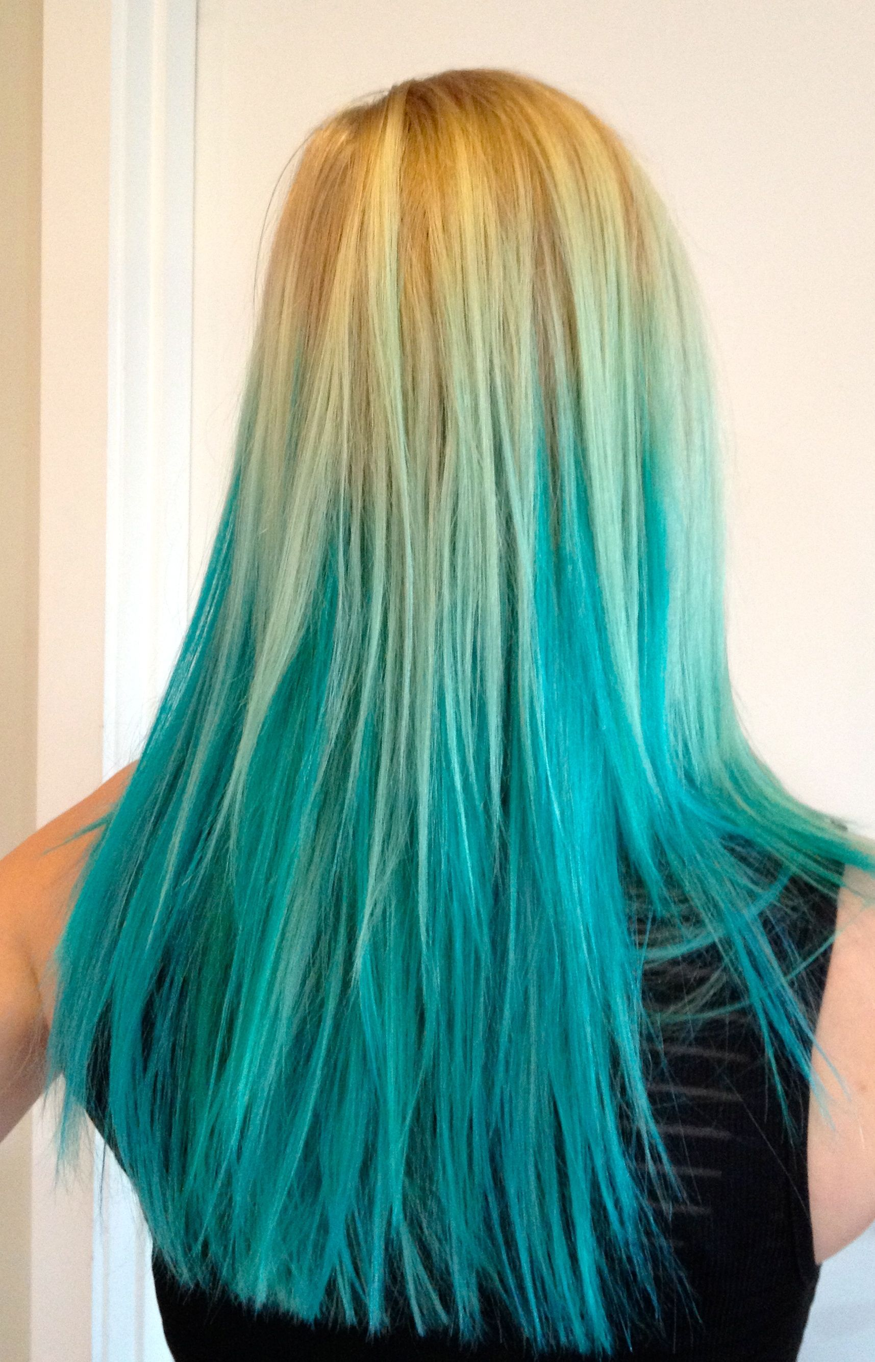 photos blonde hair with blue dip dye for iphone hd pics if there was a bit more and less bluethink this