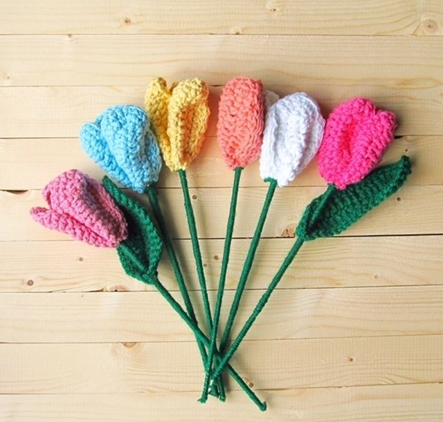Diy Crochet Tulips Teresa Restegui Httppinterest