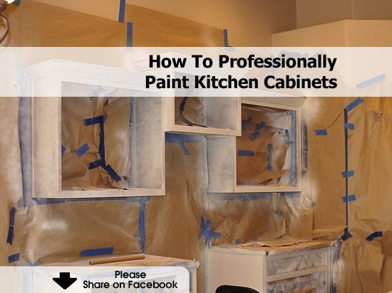 How To Professionally Paint Kitchen Cabinets Painting Kitchen