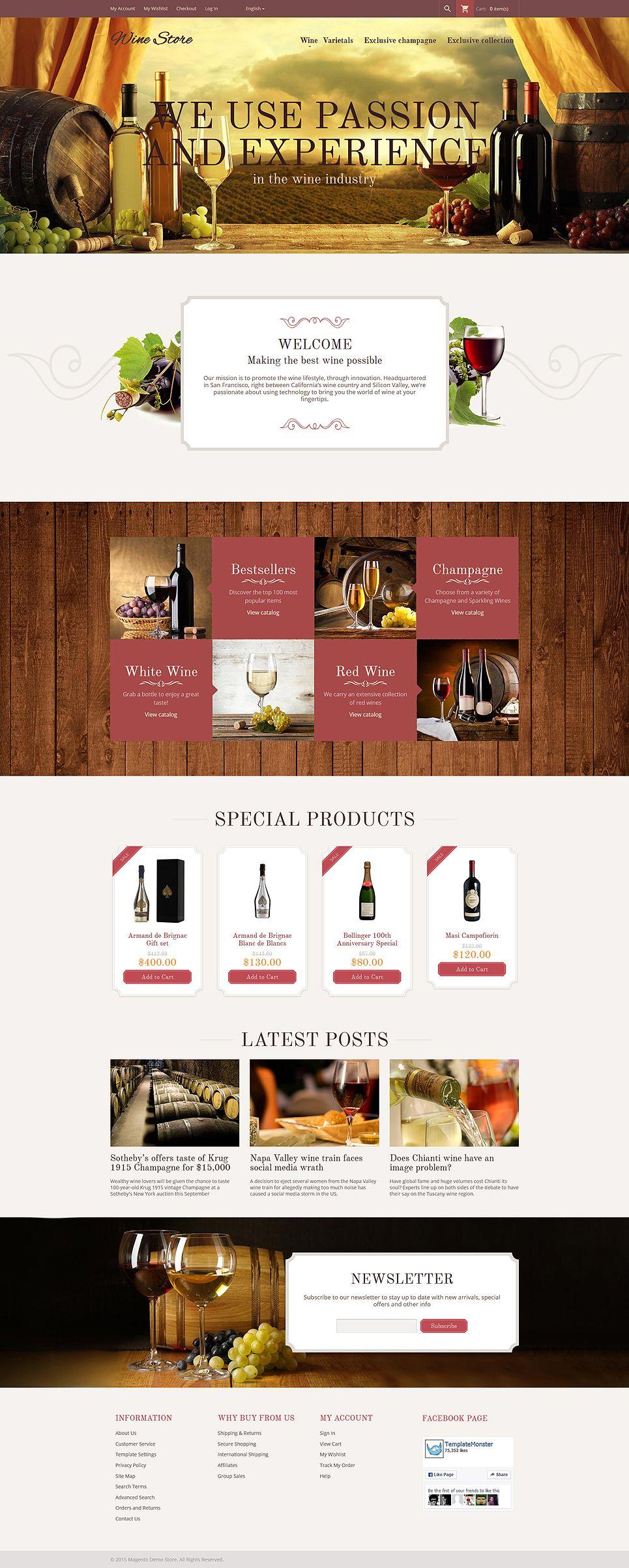 augmentez votre visibilit en ligne et attirez de nouveaux clients avec ce thme magento responsive pour les magasins vendant du vin ou autres boissons