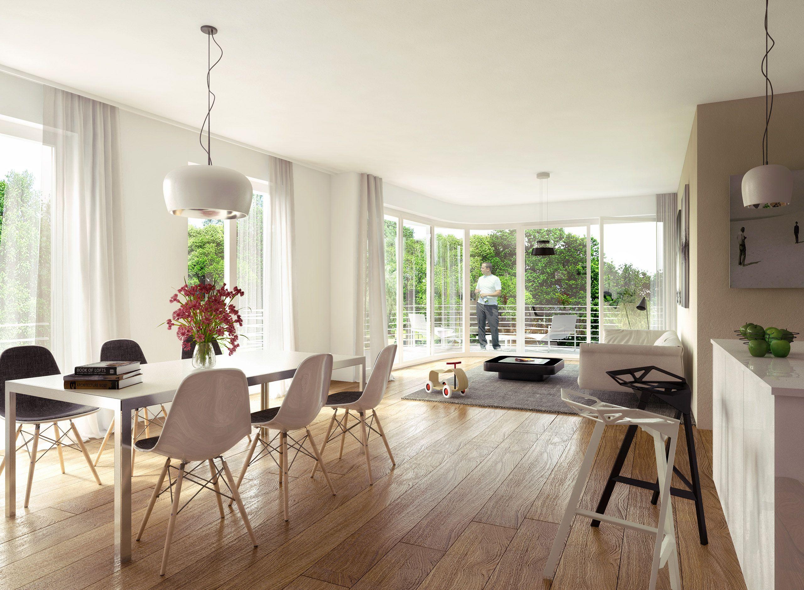 Architekturvisualisierung Berlin berlin weissensee loft kitchen render manufaktur architektur