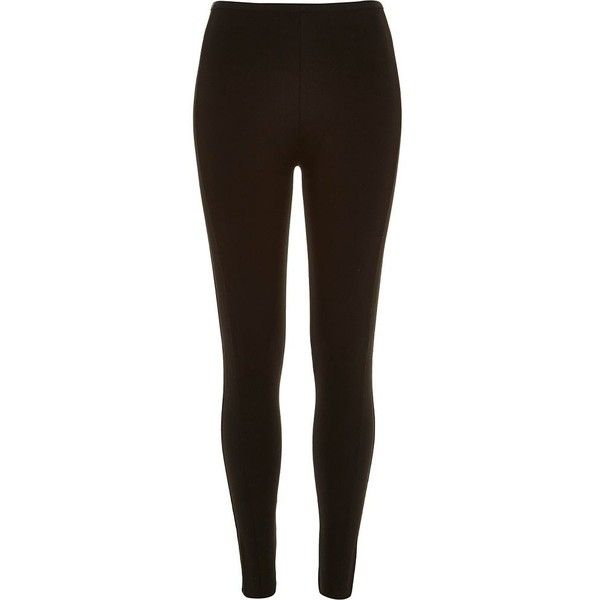 River Island Black high waisted leggings (691.500 IDR) ❤ liked on Polyvore featuring pants, leggings, black, women, tall leggings, black trousers, tall pants, high rise black pants and jersey leggings