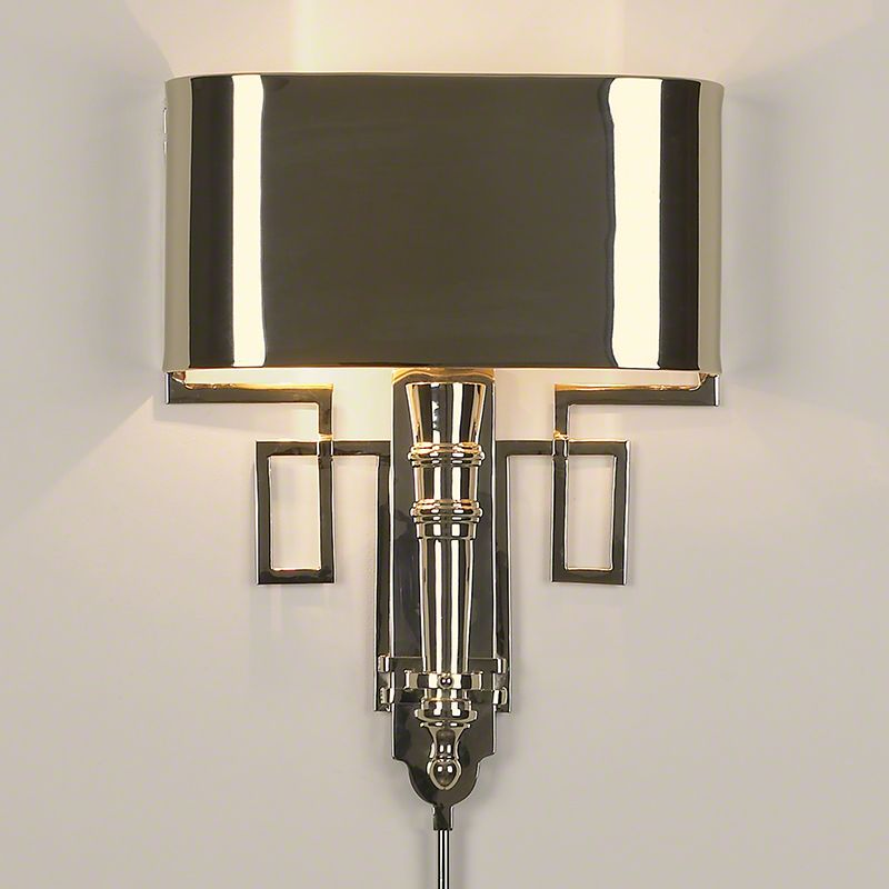 Limited production design stock classic art deco torch wall light limited production design stock classic art deco torch wall light polished nickel shade aloadofball Gallery