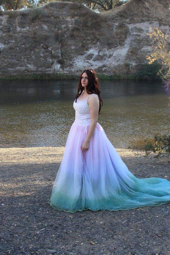 Fairytale Tie Dye Wedding Dress By Rapunzelrose On Etsy