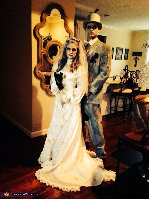 Ghost Makeup Ghostly Bride Groom Halloween Costume Fancy Dress