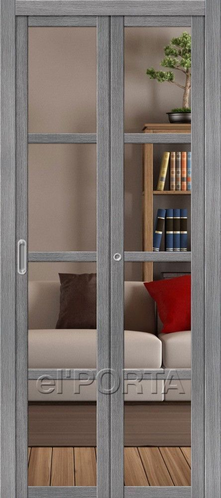 Series Bi Fold Doors Model V4 Crystalline Style Contemporary Color Grey Size 14x80 16x80 Materials Laminated Ve Doors Interior Bifold Doors Folding Doors