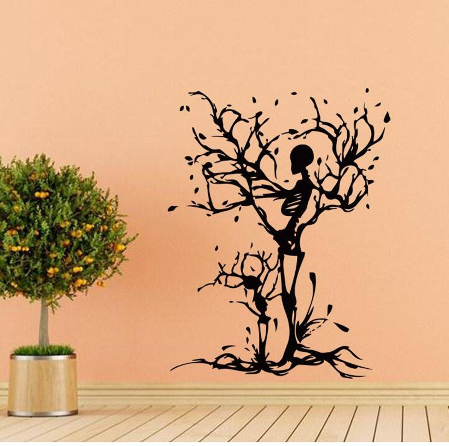 highfs halloween skeleton tree wall decals removable wall highfs halloween skeleton tree wall decals removable wall decorative painting supplies and wall treatments stickers for