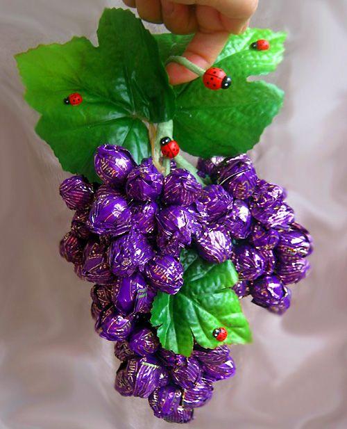 Как делать цветы из конфет. Букеты из конфет своими руками ...