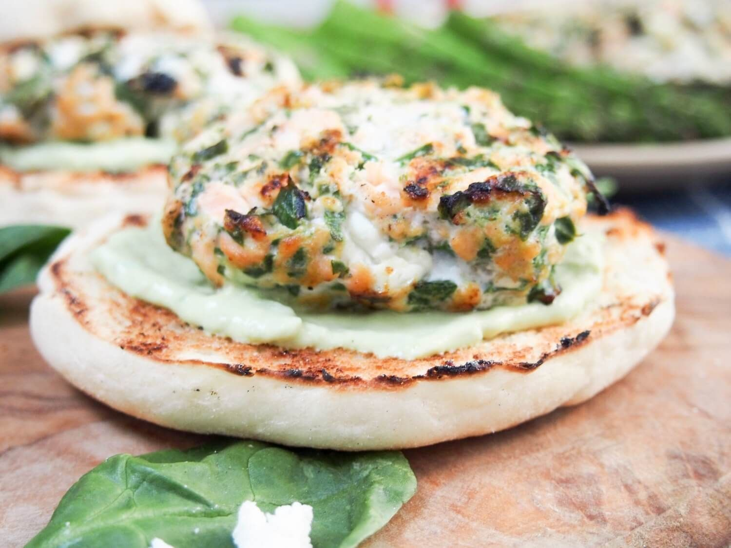Spinach Feta Salmon Burgers Are A Filling Meal To Serve