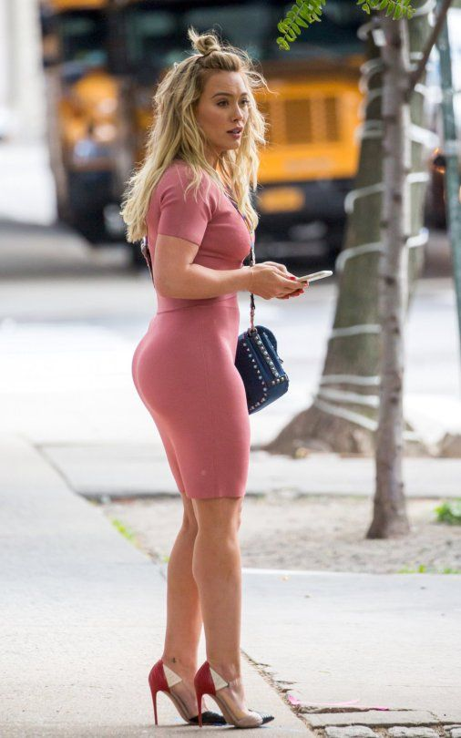 ass in long tight dress