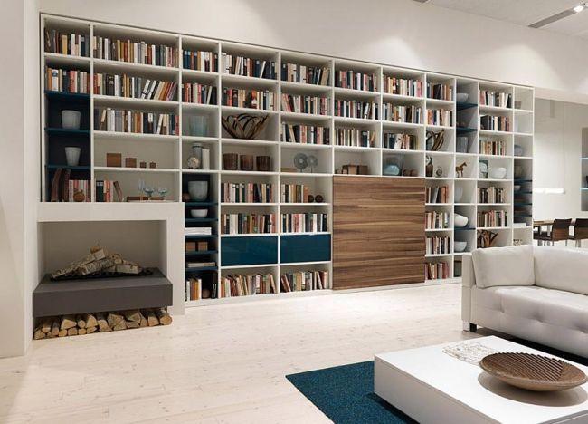 Moderne Wohnwand weiß holz gruber schlager Interiors Pinterest - wohnzimmer wohnwand weiß