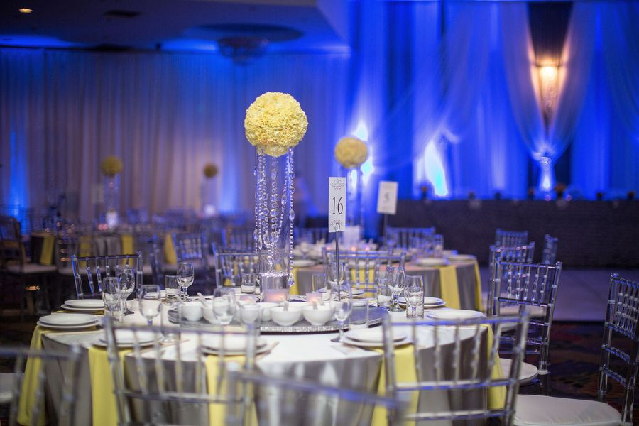 blue yellow and gray decor images Yellow and grey reception