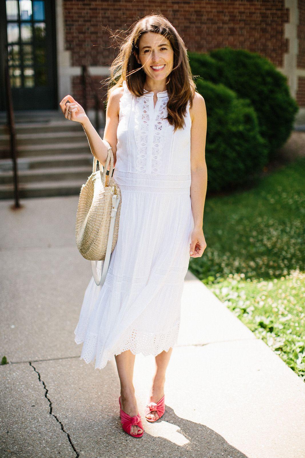 Rebecca Taylor White Lace Midi Dress On Hautelook Sequins