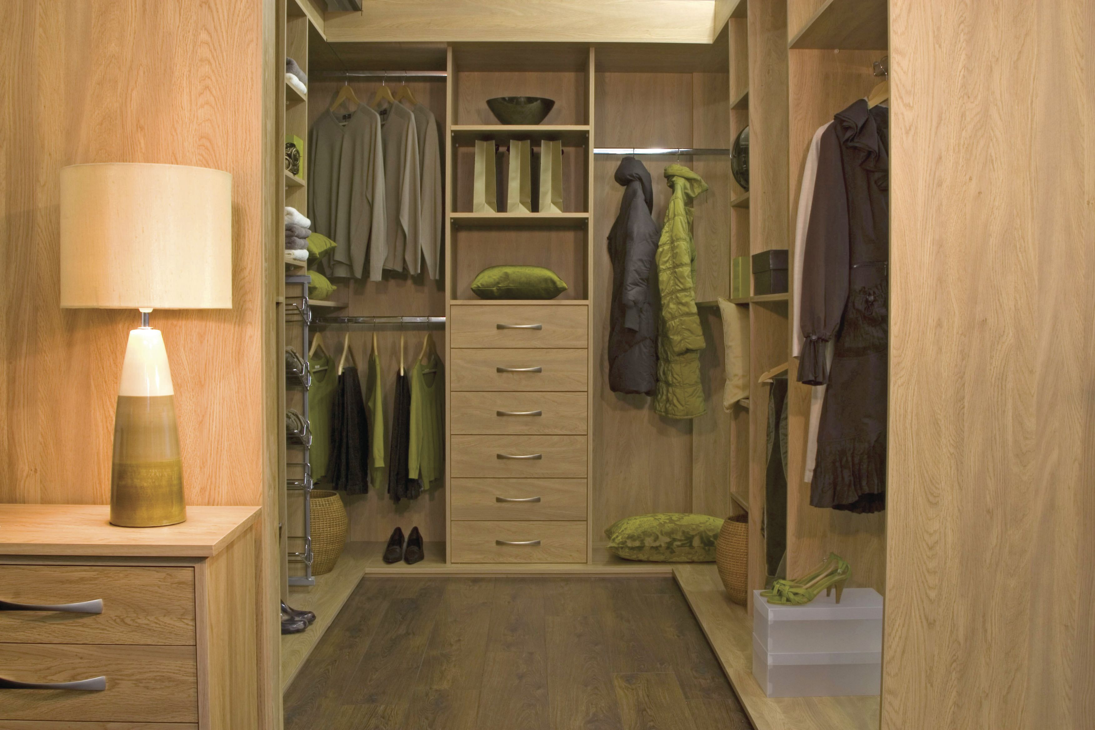 Walk in wardrobes are a great way to take cluttered and bulky