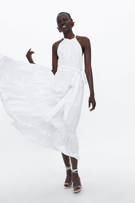 long linen dress - view all-dresses-woman | zara ukraine