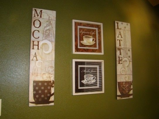 Kitchen Coffee Decorating Ideas Themed Wall Decor 543x407