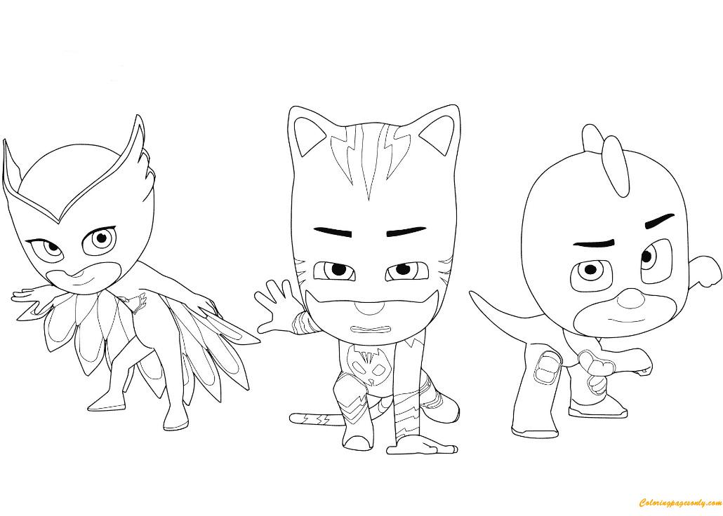 Pj Masks Coloring Pages Owlette