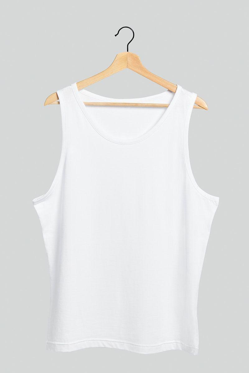 Download Premium Illustration Of Women S White Tank Top Mockup On A White Tank Top Women Clothing Mockup White Tank Top