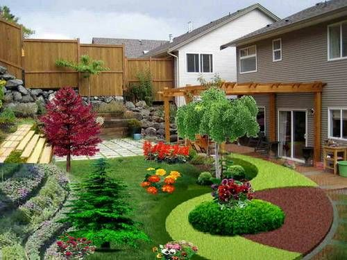 Landscape Design For Small Backyards Creative Endearing Beautiful Landscaping Small Backyard Sloping Garden Design . Decorating Design