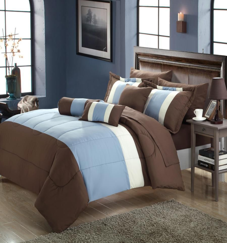 Chic Home Serenity 10 Piece Comforter Set Color Block