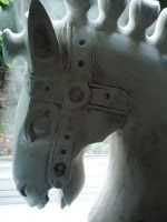 horses head painted with Annie Sloan Old White chalk paint