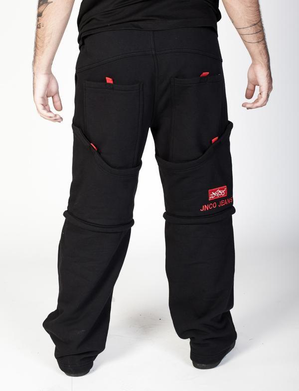 "JNCO Convertible Sweatpants- 20"" Leg Opening"