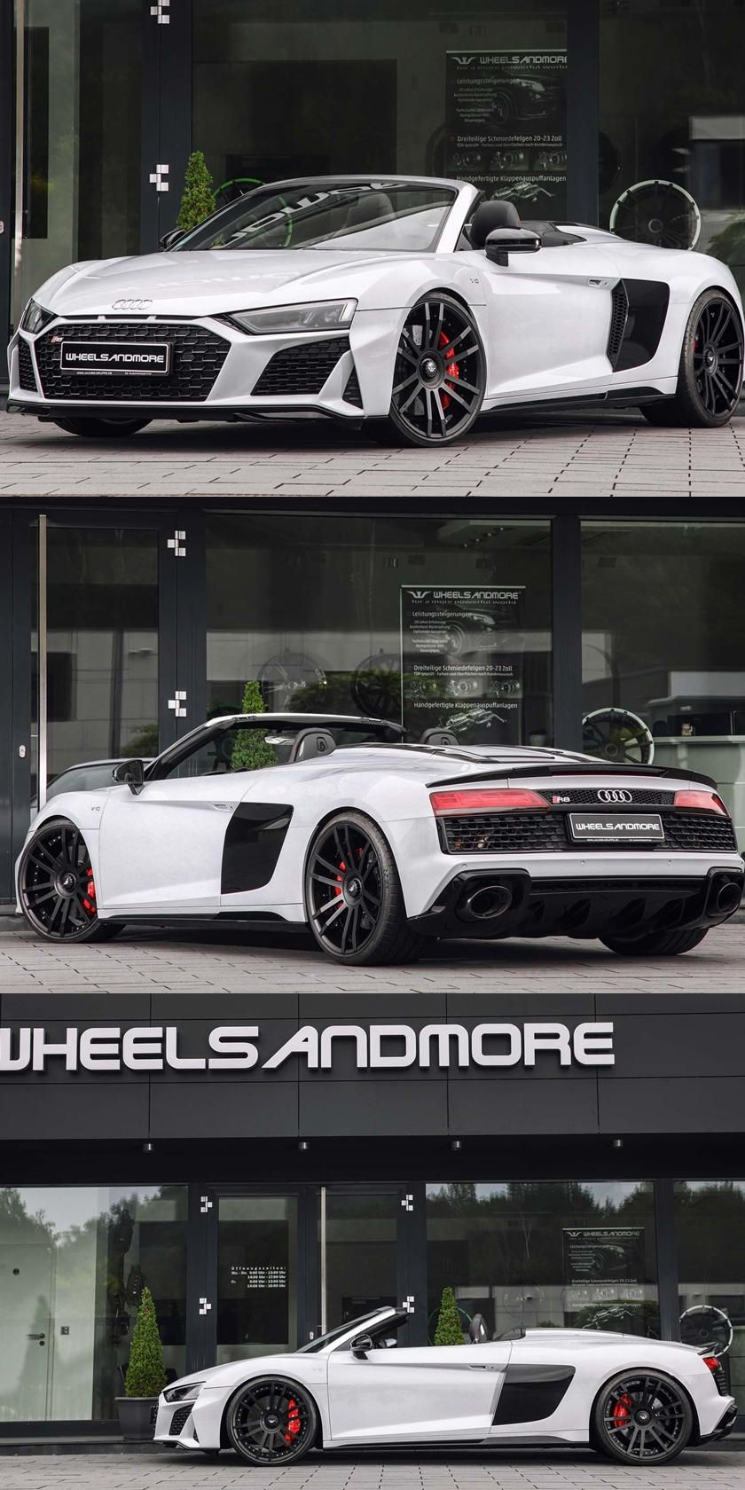 This Audi R8 V10 Spyder Has Almost Double The Horsepower 0 62 Mph Now Takes Just 2 7 Seconds In 2020 Audi R8 V10 Audi R8 Convertible Audi R8
