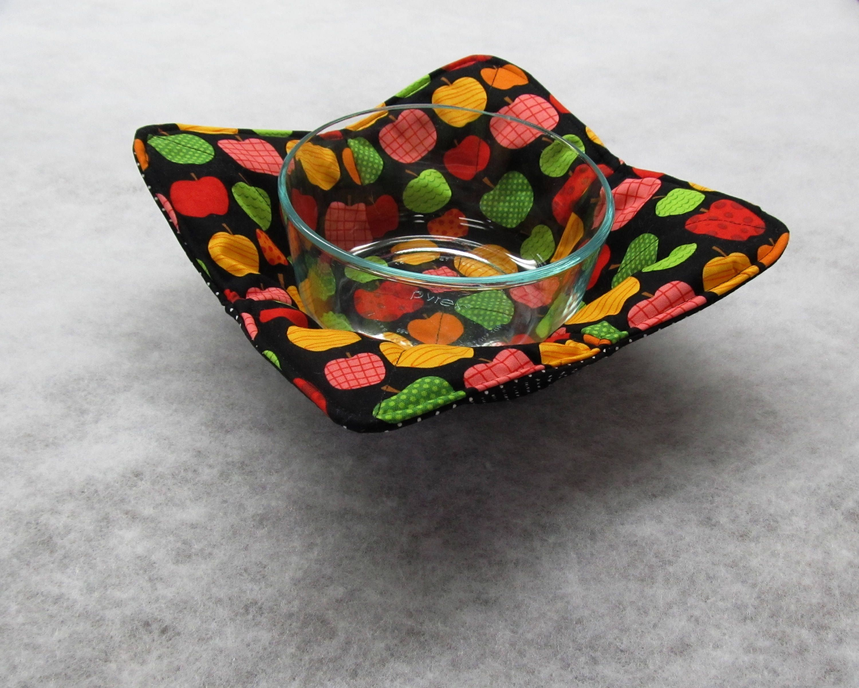 Bowl Cozy Microwave Hot Potholder Mit Holder Reversible
