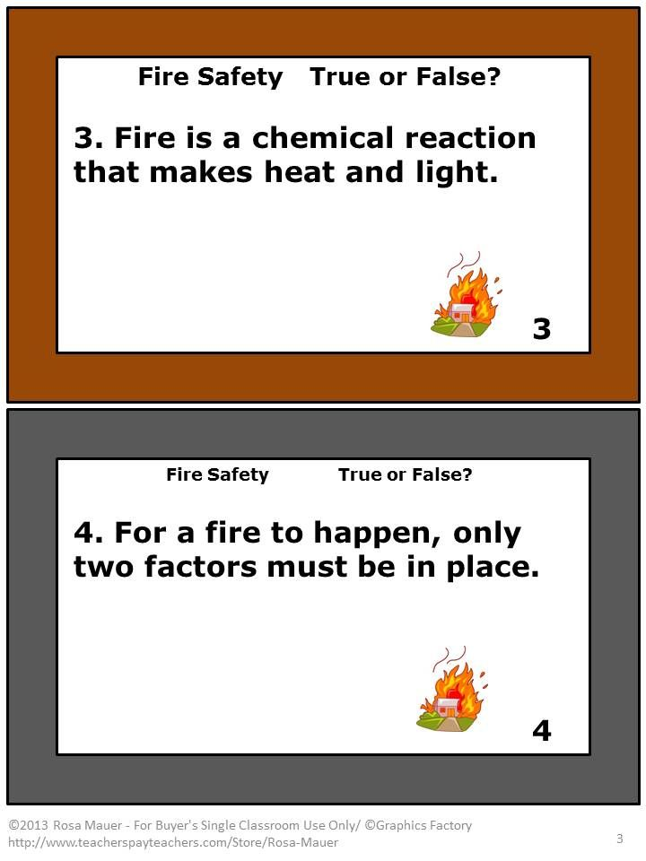 Fire safety autumn task cards worksheets fire