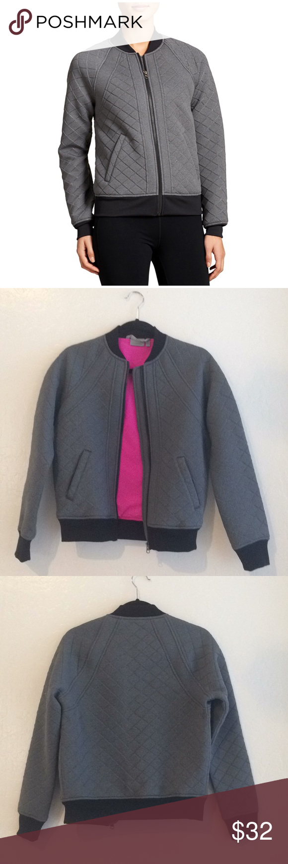 Athleta Infusion Bomber Jacket Athleta Infusion Bomber Jacket Quilted Look Bright Pink Lining For A Fun Pop Of Color Gr Bomber Jacket Clothes Design Jackets [ 1740 x 580 Pixel ]