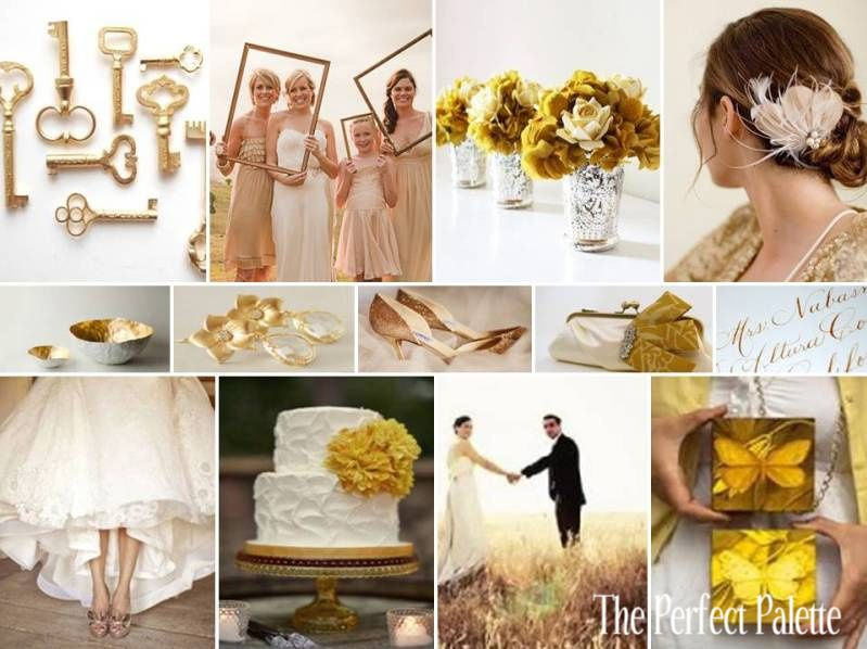 {By Request}: Metallic Love: Gold, Pewter, Champagne & White