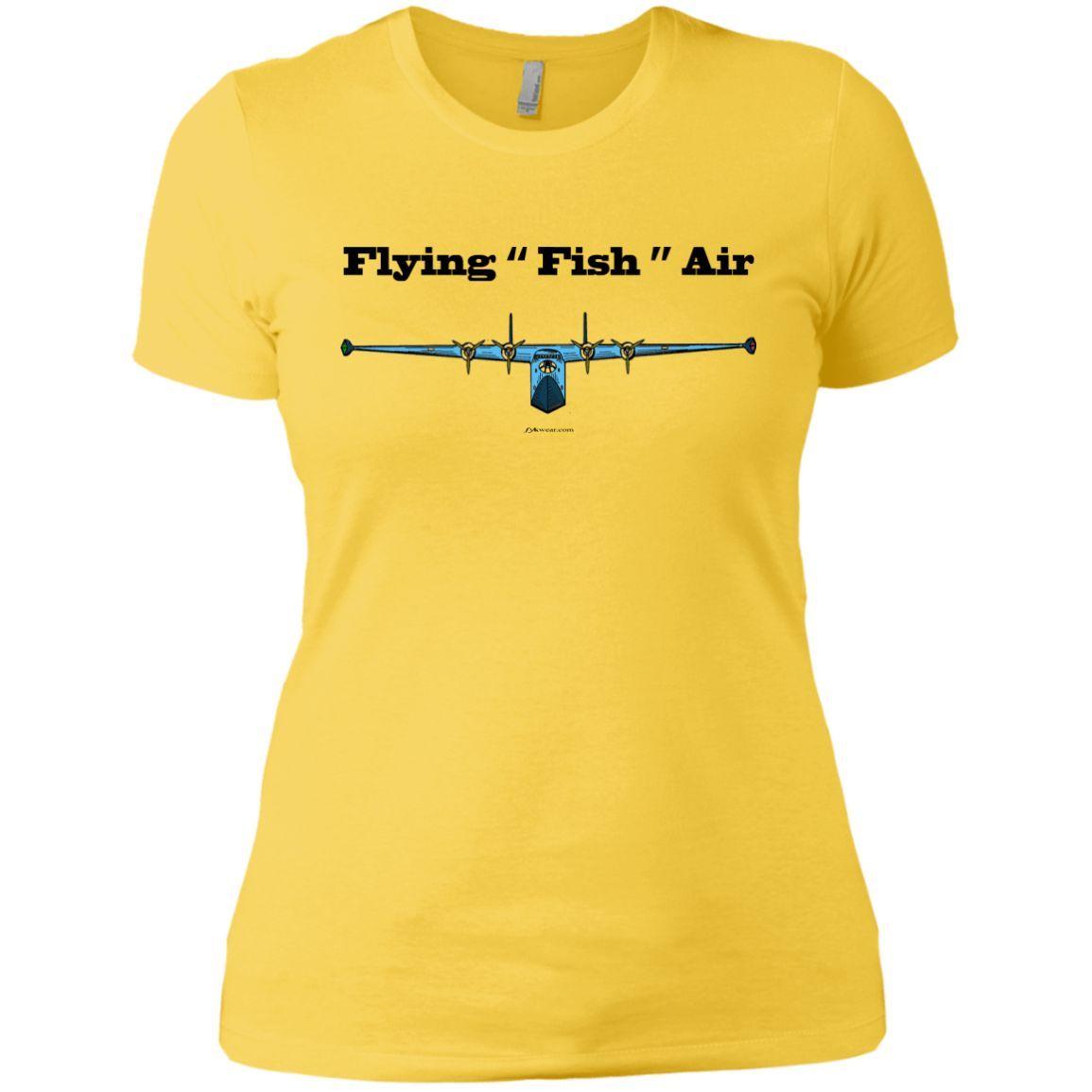 Flying Fish Air T Flying Boat Ladies Tee