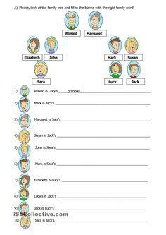 Family tree | FREE ESL worksheets | english | Pinterest