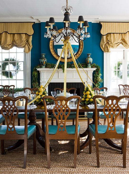Dramatic Window Treatments Dining In Style Dining Room