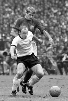 Uwe Seeler (West Germany, 1954–1970, 72 caps, 43 goals) was one of Germany's best football player, but he was never world champion. In the final of the 1966 FIFA World Cup against England he gave everything and lost.