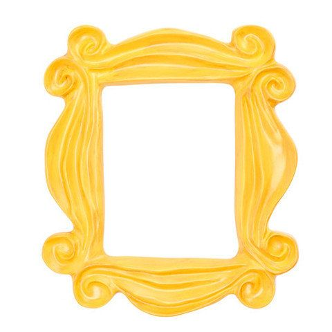 handmade yellow peephole frame as seen on monicas door on friends tv show - Yellow Picture Frame